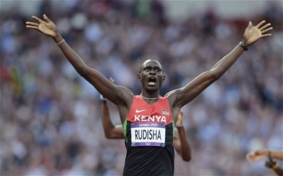 rudisha celebrates from the telegraph